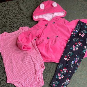 NWT 24m coat top pants carters teddy bear outfit